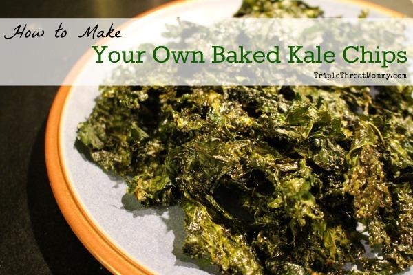 Baked Kale Chip Recipe | TripleThreatMommy.com